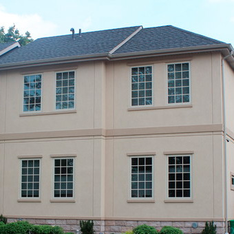 Exterior stucco on a home