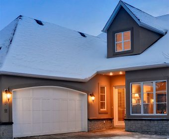 Stucco and brick for home
