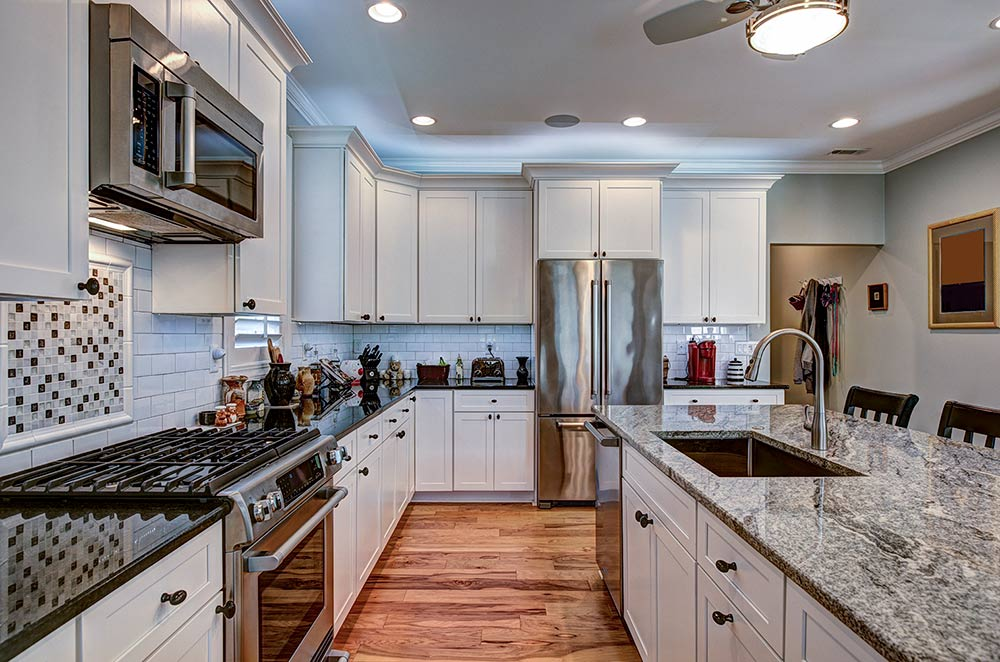 High end kitchen with granite countertops