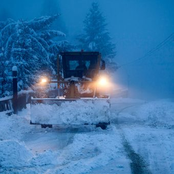 Plow doing snow removal